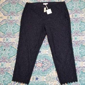 rsvp by TALBOTS blue lace ankle pants size 18W